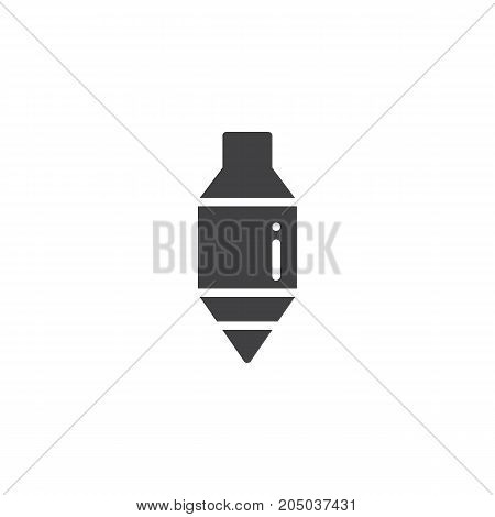 Plumb bob icon vector, filled flat sign, solid pictogram isolated on white. Symbol, logo illustration.