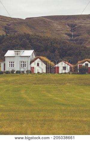 White Siding Icelandic Houses