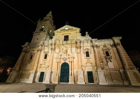 Night Ragusa Town View, Sicily, Italy