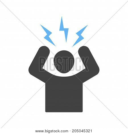 Anger, management, business icon vector image. Can also be used for soft skills. Suitable for mobile apps, web apps and print media.