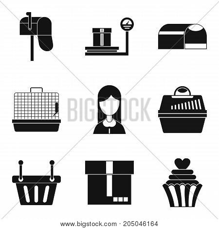 Trash icons set. Simple set of 9 trash vector icons for web isolated on white background