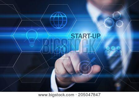 Start-up Funding Crowdfunding Investment Venture Capital Entrepreneurship Internet Business Technology Concept.