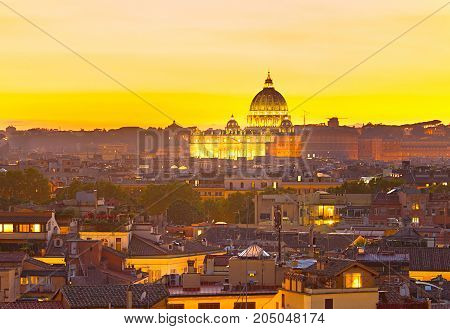 Beautiful St Peter Cathedral. Italy