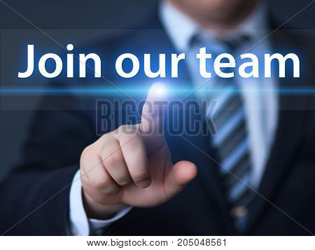 Join Our Team Job Search Career Recruitment Hiring Business Internet Concept.