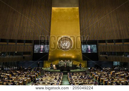 President Of Ukraine Petro Poroshenko In Un General Assembly