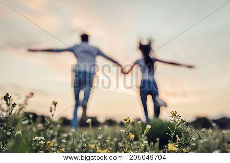 Romantic Couple Outdoors