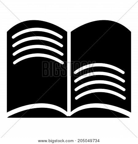 Old open magic book icon . Simple illustration of old open magic book vector icon for web design isolated on white background