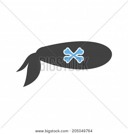Pirate, bandana, sign icon vector image. Can also be used for Pirate. Suitable for use on web apps, mobile apps and print media