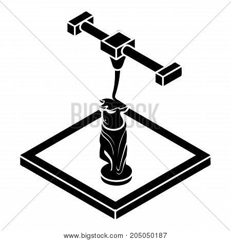 Statue d printing icon. Simple illustration of statue d printing vector icon for web design isolated on white background