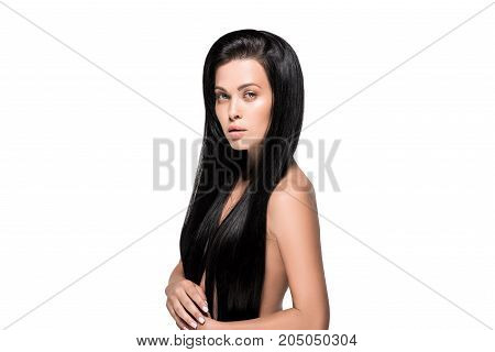 Woman With Long Brunette Hair