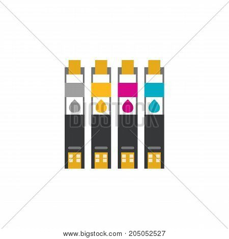Icon of ink jet. Toner, cartridge, refill. Printer concept. Can be used for topics like technology, design, printing office