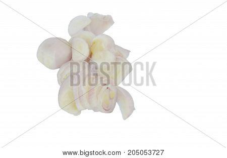 slice fresh shallot isolated on white background