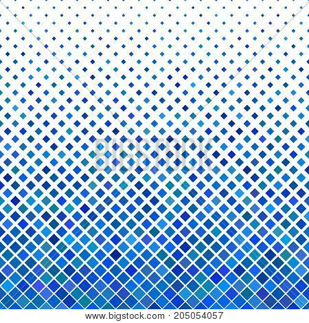 Color abstract square pattern background - geometrical vector illustration from diagonal squares in blue tones