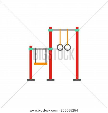 Icon of sports bar. Sport ground, fitness, workout. Gymnastics concept. Can be used for topics like outdoor activity, leisure, recreation