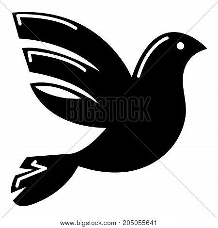 White peace pigeon icon . Simple illustration of white peace pigeon vector icon for web design isolated on white background