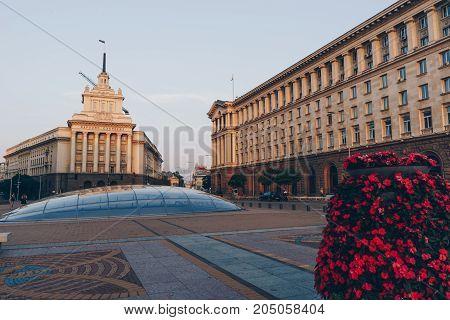 Sofia, Bulgaria, July 2017. City Centre Of Sofia, Capital Of Bulgaria