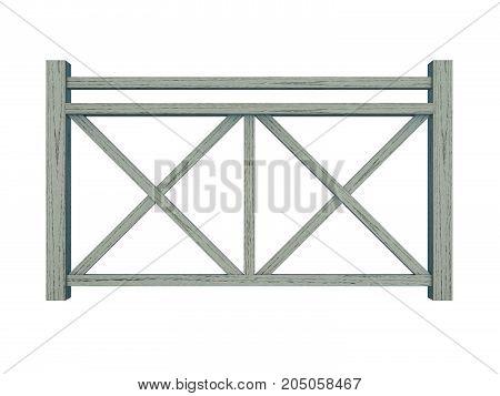 Azek design wood railing 3d render model