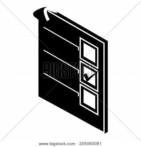 Voted paper icon. Simple illustration of voted paper vector icon for web design isolated on white background