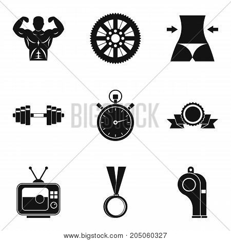 Boxing icons set. Simple set of 9 boxing vector icons for web isolated on white background