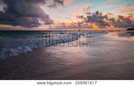Dominican Republic. Colorful Coastal Landscape