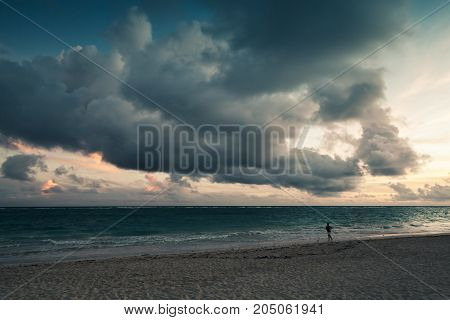 Atlantic Ocean, Landscape With Dramatic Sky