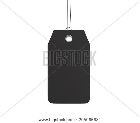 Blank dangling paper label or cloth tag. Blank labels template price tags set realistic vector