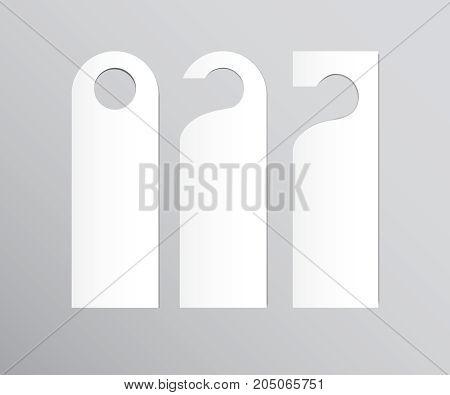 Set of door hangers isolated on white background. Door hanger vector illustration