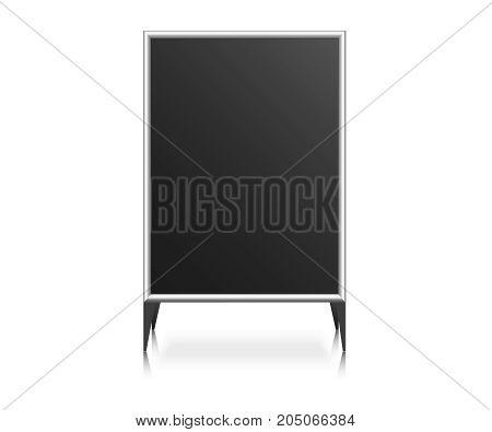 Handheld Sandwich Stands. Information Board  vector illustration