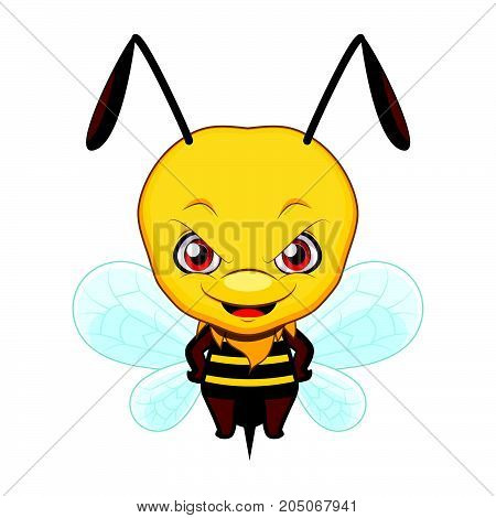 Cute Stylized Cartoon Wasp Illustration ( For Fun Educational Purposes, Illustrations Etc. )