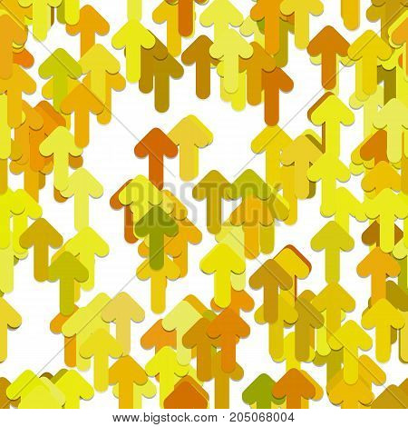 Seamless geometric arrow background pattern - vector graphic design from rounded forward arrows with shadow effect