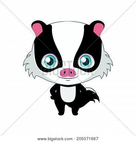 Cute Stylized Cartoon Hog Badger Illustration ( For Fun Educational Purposes, Illustrations Etc. )