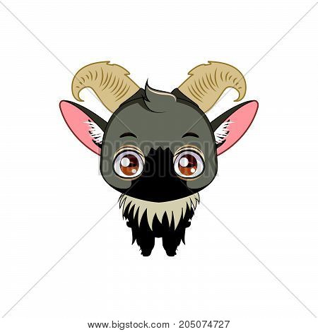 Cute Stylized Cartoon Tahr Illustration ( For Fun Educational Purposes, Illustrations Etc. )