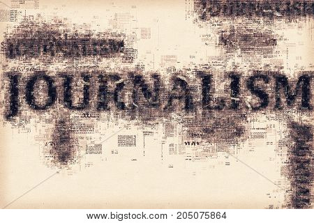 Journalism conceptual illustration for press newspaper and media background