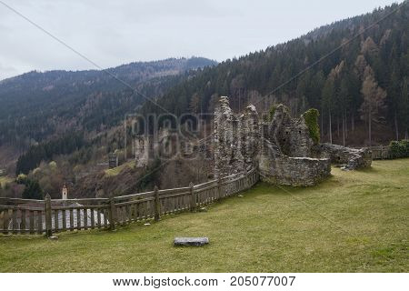 Burg Petersberg is a ruined castle situated above Friesach