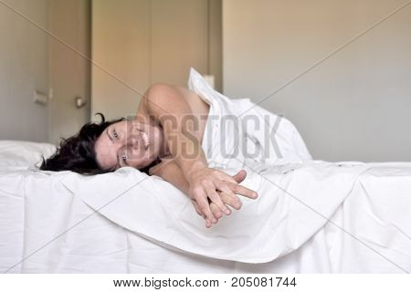 Woman Getting Up Happy In The Morning