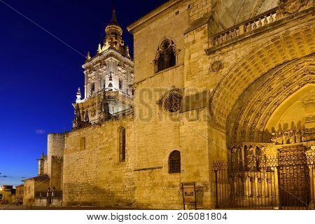 Night At Cathedral Of El Burgo De Osma, Soria Province, Castilla-leon, Spain