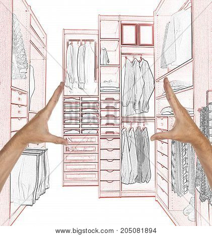 Planned A Construction Of A Modern Dressing Room