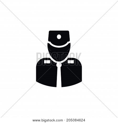 Military Vector Element Can Be Used For Officer, Patrol, Military Design Concept.  Isolated Officer Icon.