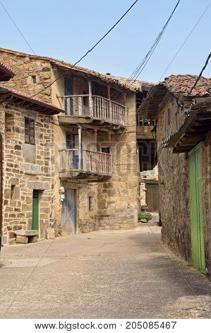 Village Of Villardeciervos, Sierra De La Culebra, Zamora Province,spain