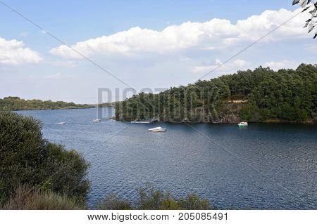 Valparaiso Dam near Cional Zamora province Spain
