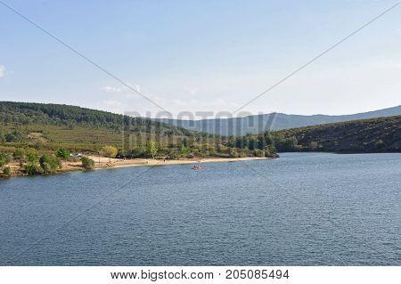 Beach of Valparaiso Dam Cional Zamora province Spain