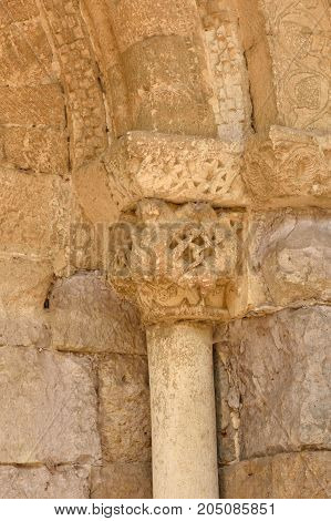 Detail Of The Portico Of Romanesque Church Of Santa Maria, Carrion De Los Condes, Spain
