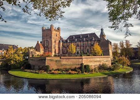 Huis Bergh Castle on a sunny Autumn day in 's Heerenberg The Netherlands