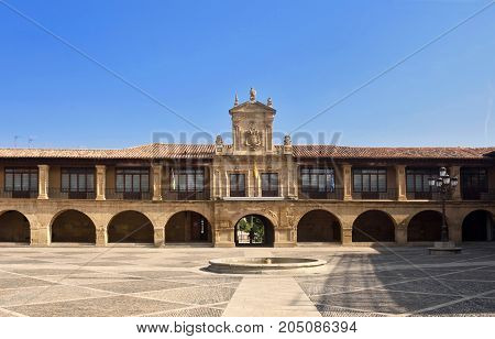 City Hall And Spain Square, Santo Domingo De La Calzada, Way Of Saint James, La Rioja, Spain