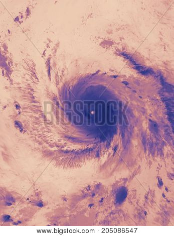 Tropical storm Maria. Thermal image. Elements of this image are furnished by NASA