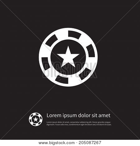 Chip  Vector Element Can Be Used For Chip, Star, Casino Design Concept.  Isolated Star Icon.