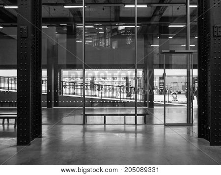 Tate Modern Turbine Hall In London Black And White