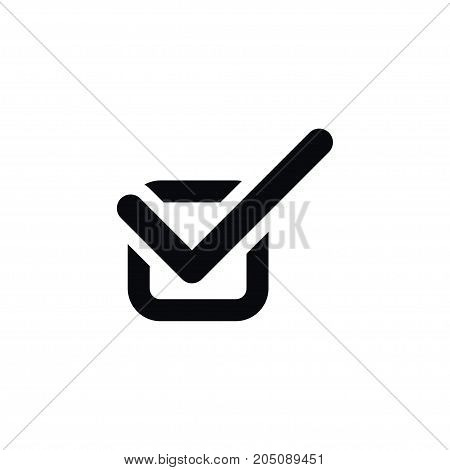 Done Vector Element Can Be Used For Check, Done, Approved Design Concept.  Isolated Check Icon.