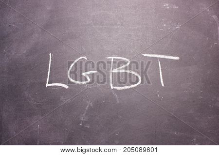 Word Lgbt Is Written Chalk
