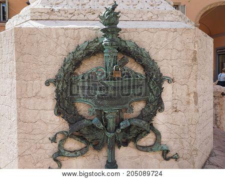 Luigi Galvani Monument In Bologna